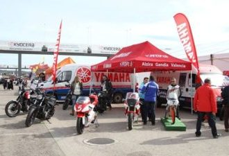 Motos Yamaha VFerrer racing legends stand