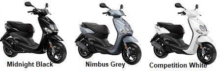 Yamaha Neos 4 49cc con motor de 4 tiempos.
