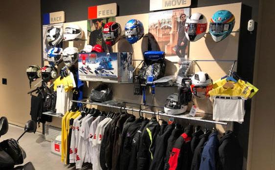 Boutique y merchandising oficial Yamaha con toda la equipacion para el motorista